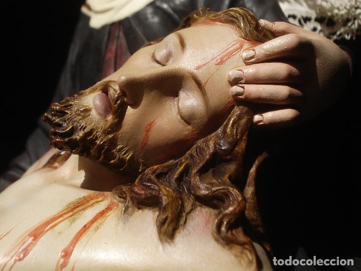 Arte: MAGNIFICA HORNACINA CON PIEDAD SELLADA DE EL ARTE CRISTIANO - Foto 3 - 99747175