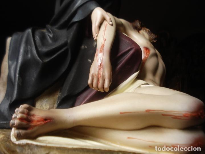 Arte: MAGNIFICA HORNACINA CON PIEDAD SELLADA DE EL ARTE CRISTIANO - Foto 10 - 99747175