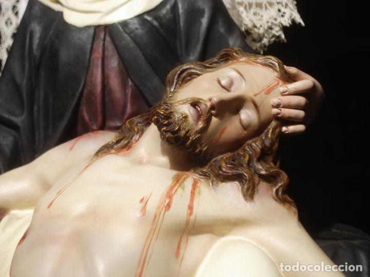 Arte: MAGNIFICA HORNACINA CON PIEDAD SELLADA DE EL ARTE CRISTIANO - Foto 13 - 99747175