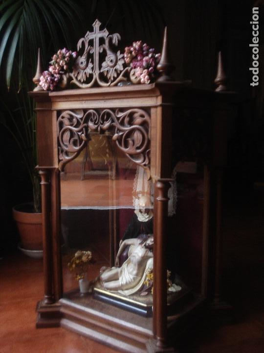 Arte: MAGNIFICA HORNACINA CON PIEDAD SELLADA DE EL ARTE CRISTIANO - Foto 16 - 99747175