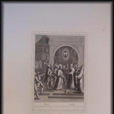 Arte: RECIBE JESUS UNA BOFETADA EN CASA DEL PONTIFICE ANAS. 1853 ROUARGUE (GRAVEUR) ED PILON, PARIS. Lote 99784423