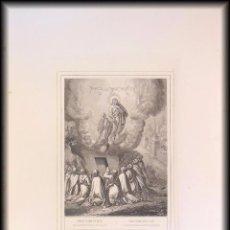 Arte: RESURRECCION Y ASCENSION DE LA SANTISIMA VIRGEN. 1853 ROUARGUE (GRAVEUR) PILON, PARIS. Lote 99808407