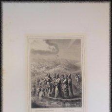 Arte: JUAN RECIBE A LOS SACERDOTES Y LEVITAS ENVIADOS DE JERUSALEN. 1853 ROUARGUE (GRAVEUR) PILON, PARIS. Lote 99810359
