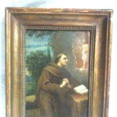 Arte: SAN ANTONIO DE PADUA ÓLEO SOBRE COBRE S XVIII. MED. 23 X 29 CM. Lote 99816375