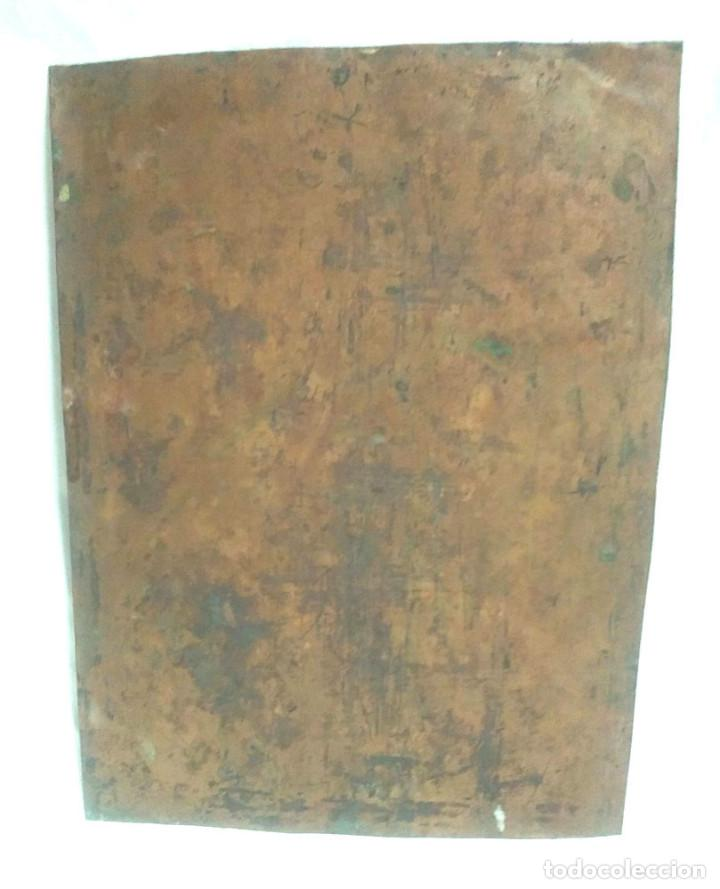 Arte: San Antonio de Padua óleo sobre cobre S XVIII. Med. 23 x 29 cm - Foto 3 - 99816375