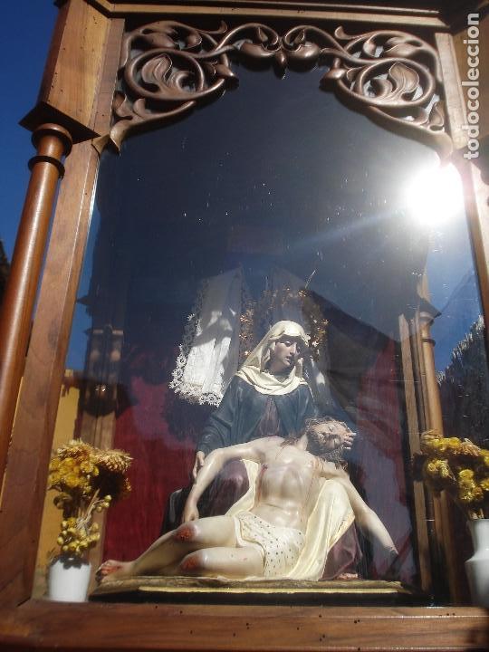 Arte: MAGNIFICA HORNACINA CON PIEDAD SELLADA DE EL ARTE CRISTIANO - Foto 25 - 99747175