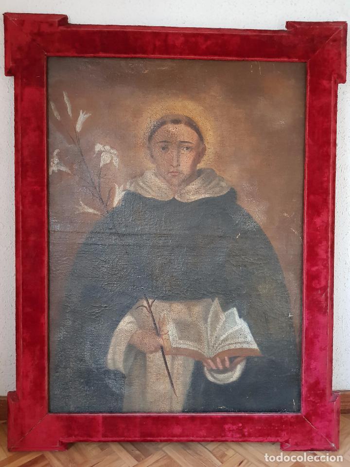 ÓLEO SANTO DOMINGO DE GUZMÁN SIGLO XVII (Arte - Arte Religioso - Pintura Religiosa - Oleo)