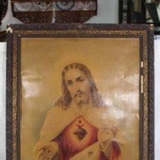 Arte: CORAZÓN DE JESÚS, LITOGRAFIA ANTIGUA. Lote 99918031