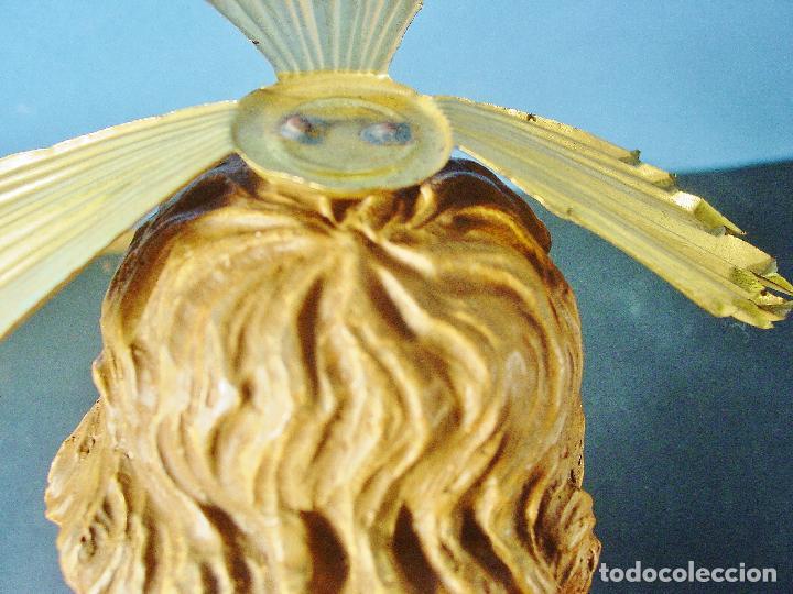 Arte: PRECIOSO E IMPECABLE NIÑO JESÚS EN ESTUCO POLICROMADO - SELLO ARTE MODERNO OLOT. 43 CM.S DE ALTURA - Foto 11 - 99932091