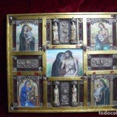 Arte: FRONTAL, OLEO SOBRE MADERA, PLATA, TALLA HUESO, HERRAJES, ETC (ÚNICO) 92X84 CM. Lote 73449431