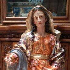 Arte: ESCULTURA VIRGEN MARIA EN MADERA 1 METRO 20 DE ALTURA. Lote 115212682