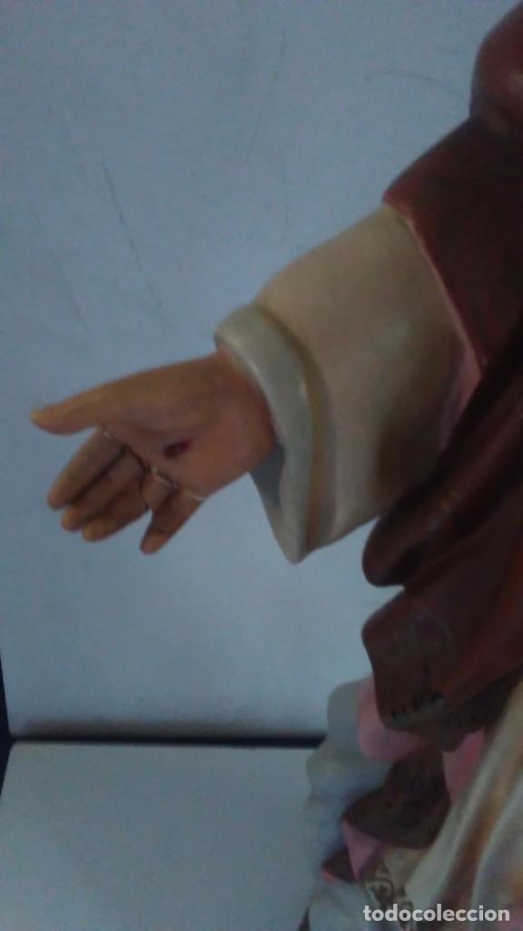 Arte: Figura del Sagrado Corazón de Jesús de Olot. R.Hostench Quintana.Con sello en la parte trasera. 66cm - Foto 12 - 100134059