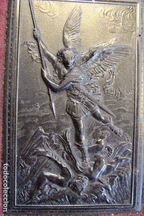 Arte: Relieve miniatura en pasta ebonizada. Siglo XIX. - Foto 2 - 100141079