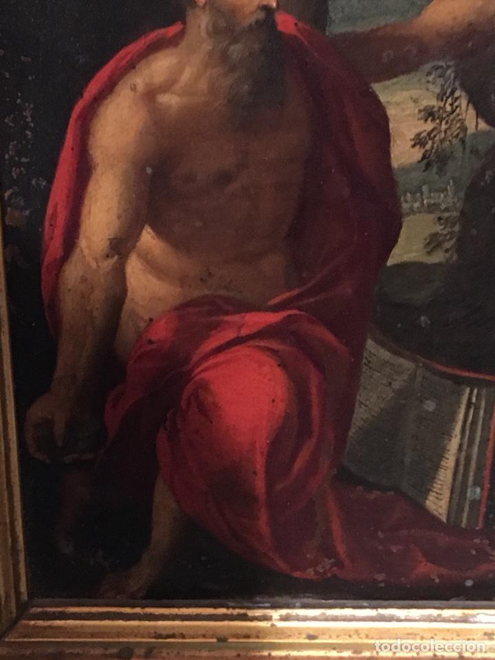 Arte: ANTIGUO CUADRO RELIGIOSO SAN JERONIMO PINTADO SOBRE COBRE S.XVIII CON MARCO DORADO - Foto 5 - 100319974