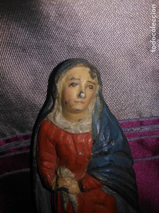 Arte: CALVARIO VIRGEN SAN JUAN Y MAGADALENA SIGLO XVIII PLOMO O METAL POLICROMADO - SEMANA SANTA - Foto 9 - 100324499