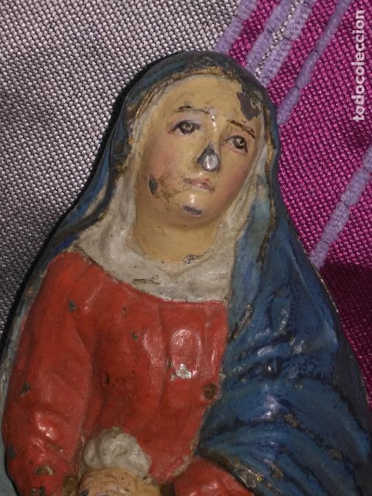 Arte: CALVARIO VIRGEN SAN JUAN Y MAGADALENA SIGLO XVIII PLOMO O METAL POLICROMADO - SEMANA SANTA - Foto 14 - 100324499