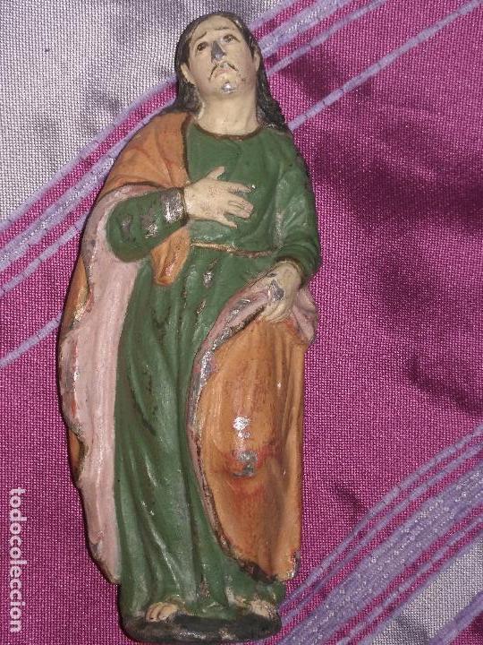 Arte: CALVARIO VIRGEN SAN JUAN Y MAGADALENA SIGLO XVIII PLOMO O METAL POLICROMADO - SEMANA SANTA - Foto 30 - 100324499
