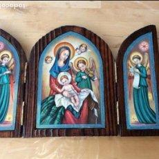 Arte: BONITO TRÍPTICO RELIGIOSO. Lote 100457395