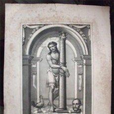 Arte: ANTIGUA LITOGRAFÍA DEL CRISTO DE TORRIJOS (VALENCINA DE LA CONCEPCIÓN - SEVILLA) SIGLO XIX. Lote 100526811