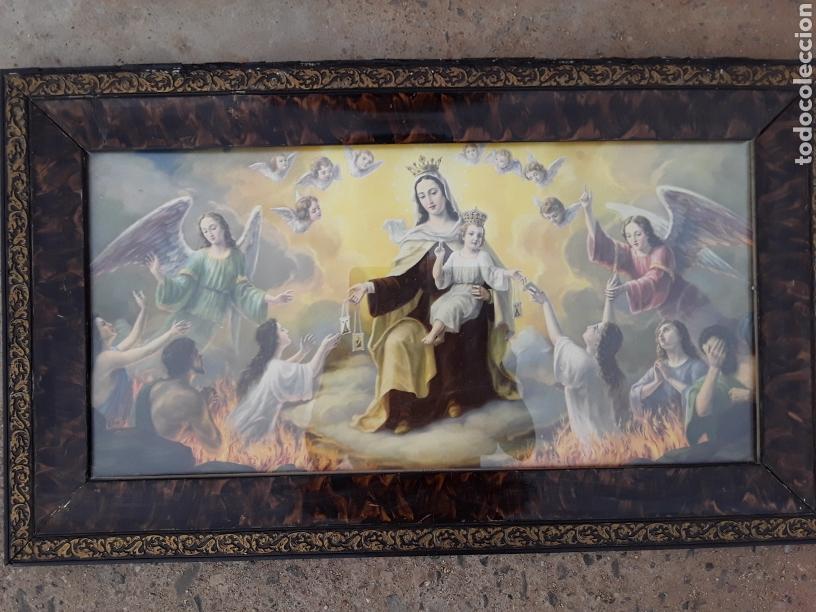 CUADRO ANTIGUO RELIGIOSO,COMPLETO. (Arte - Arte Religioso - Pintura Religiosa - Otros)