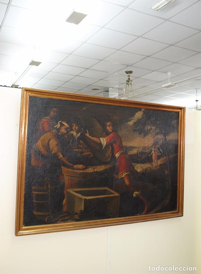 ÓLEO SOBRE LIENZO - EL SACRIFICIO DE ISAAC (Arte - Arte Religioso - Pintura Religiosa - Oleo)