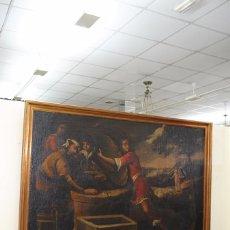 Arte: ÓLEO SOBRE LIENZO - EL SACRIFICIO DE ISAAC. Lote 100637507