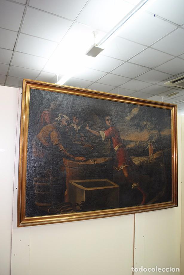Arte: ÓLEO SOBRE LIENZO - EL SACRIFICIO DE ISAAC - Foto 2 - 100637507