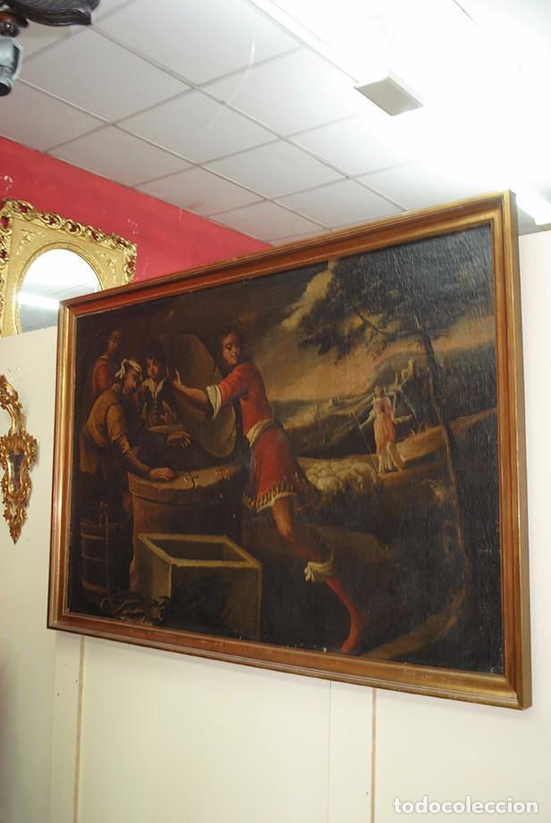 Arte: ÓLEO SOBRE LIENZO - EL SACRIFICIO DE ISAAC - Foto 3 - 100637507