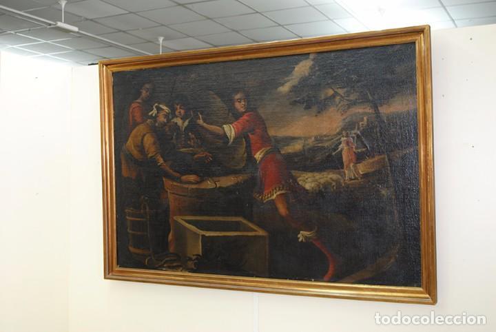 Arte: ÓLEO SOBRE LIENZO - EL SACRIFICIO DE ISAAC - Foto 5 - 100637507
