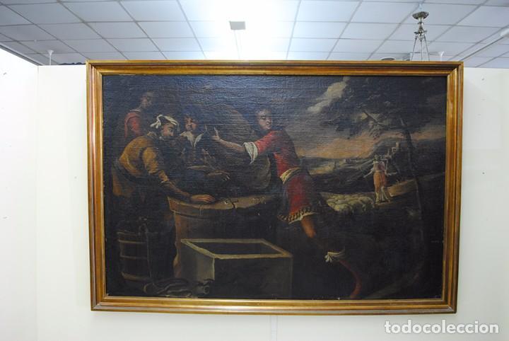 Arte: ÓLEO SOBRE LIENZO - EL SACRIFICIO DE ISAAC - Foto 6 - 100637507