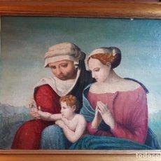 Arte: SAGRADA FAMILIA HISPANO FLAMENCA. SIGLO XVI. Lote 100775203