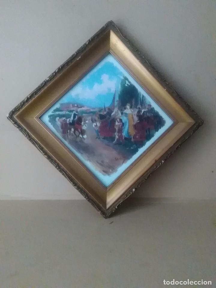 CUADRO OLEO FIRMADO (SEVILLA) (Arte - Arte Religioso - Pintura Religiosa - Oleo)