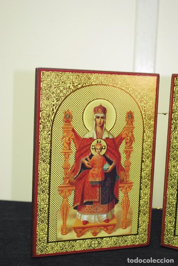 Arte: ICONO RELIGIOSO ANTIGUO ORTODOXO - Foto 2 - 100921387