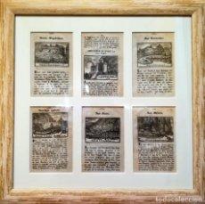 Arte: COLECCION 6 GRABADOS ORIGINALES,SIGLO XVIII,HERMITA MONTAÑA VIRGEN DE MONTSERRAT,CATALUÑA,MUY RAROS. Lote 100944539