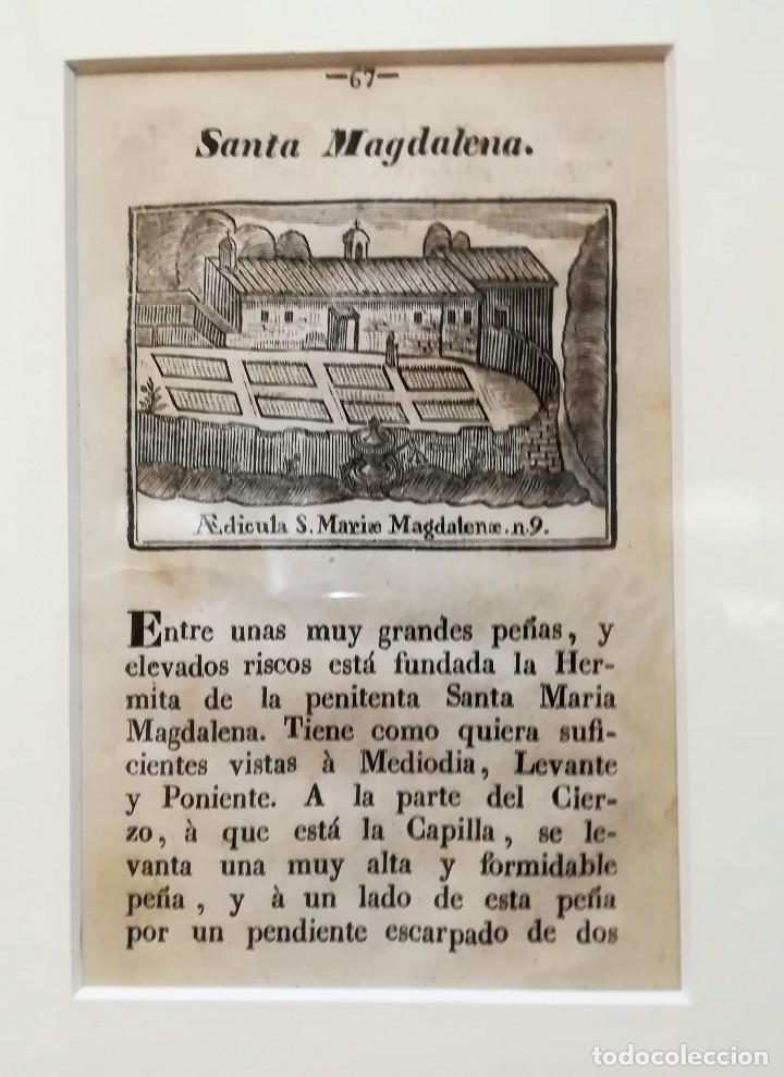Arte: COLECCION 6 GRABADOS ORIGINALES,SIGLO XVIII,HERMITA MONTAÑA VIRGEN DE MONTSERRAT,CATALUÑA,MUY RAROS - Foto 2 - 100944539