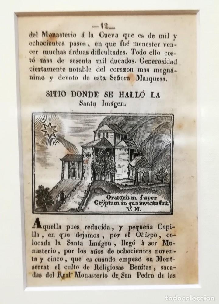 Arte: COLECCION 6 GRABADOS ORIGINALES,SIGLO XVIII,HERMITA MONTAÑA VIRGEN DE MONTSERRAT,CATALUÑA,MUY RAROS - Foto 3 - 100944539
