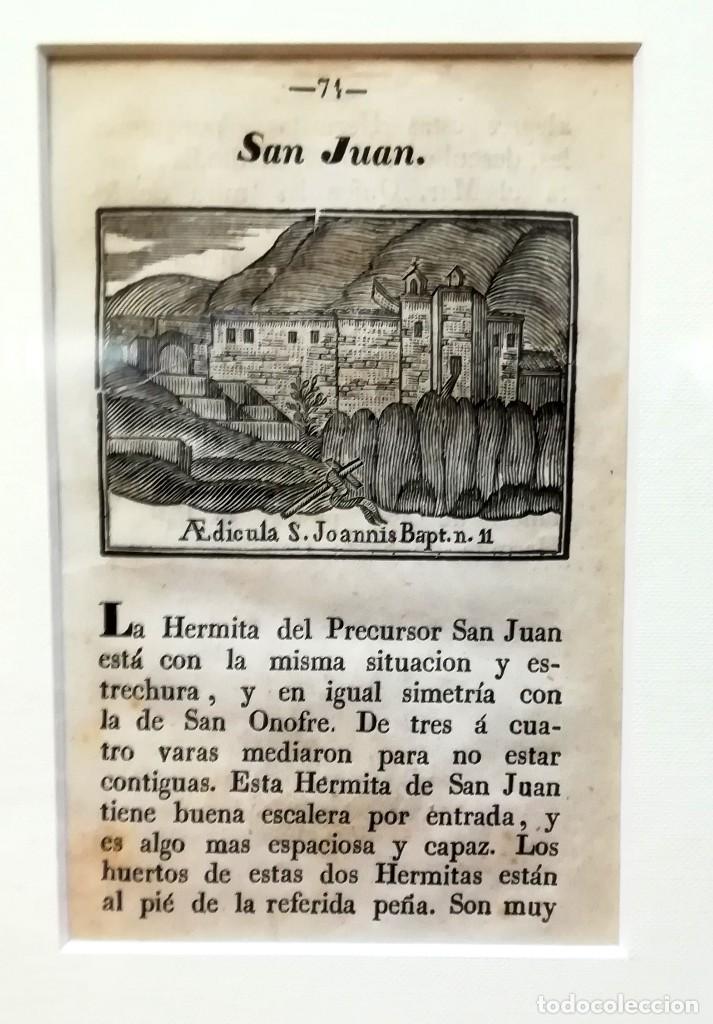 Arte: COLECCION 6 GRABADOS ORIGINALES,SIGLO XVIII,HERMITA MONTAÑA VIRGEN DE MONTSERRAT,CATALUÑA,MUY RAROS - Foto 6 - 100944539