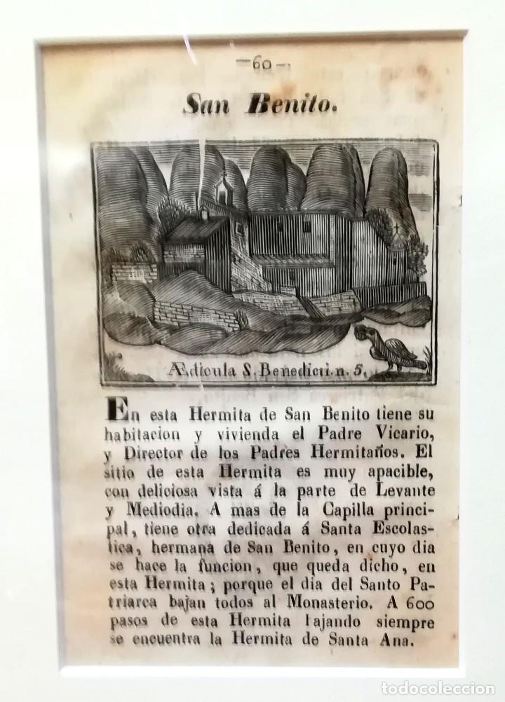 Arte: COLECCION 6 GRABADOS ORIGINALES,SIGLO XVIII,HERMITA MONTAÑA VIRGEN DE MONTSERRAT,CATALUÑA,MUY RAROS - Foto 7 - 100944539
