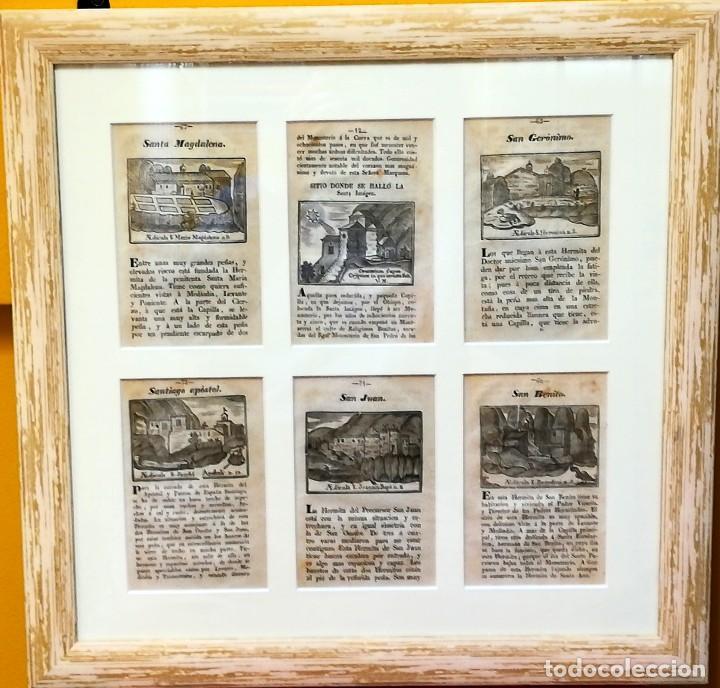 Arte: COLECCION 6 GRABADOS ORIGINALES,SIGLO XVIII,HERMITA MONTAÑA VIRGEN DE MONTSERRAT,CATALUÑA,MUY RAROS - Foto 9 - 100944539