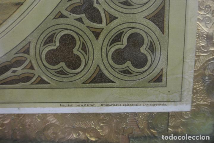 Arte: Antigua litografia enmarcada. San José y el niño Jesús - Foto 3 - 100973083
