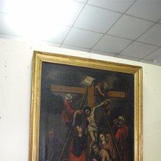 Arte: ÓLEO SOBRE LIENZO SIGLO XIX - EL DESCENDIMIENTO DE JESÚS. Lote 93789965