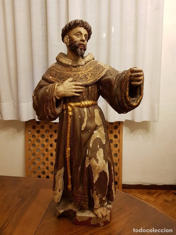 TALLA MADERA SAN FRANCISCO. SIGLO XVI (Arte - Arte Religioso - Escultura)