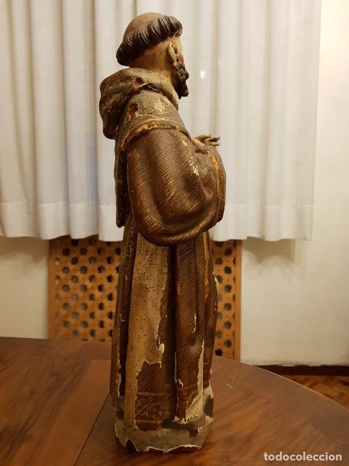 Arte: Talla madera San Francisco. Siglo XVI - Foto 3 - 101002091