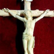Arte: CRISTO CRUCIFIJO ISABELINO TALLA DE HUESO. MED. 21 X 10 CM. Lote 101080251