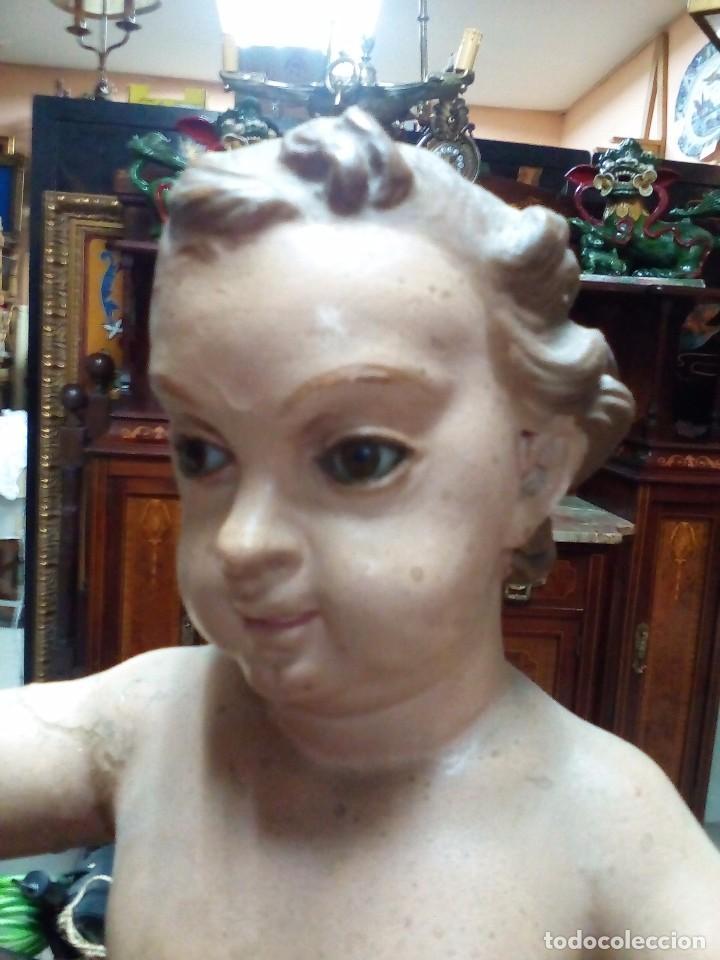 Arte: escultura en talla de madera de san juanito XVIII - Foto 3 - 101084431