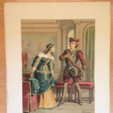 Arte: PRECIOSA OBRA DE ARTE. LITOGRAFIA FIRMADA DE EUSEBIO PLANAS AÑO 1881. Lote 101129395