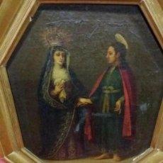 Arte: ÓLEO SIGLO XVIII. OCTOGONAL. Lote 101135115