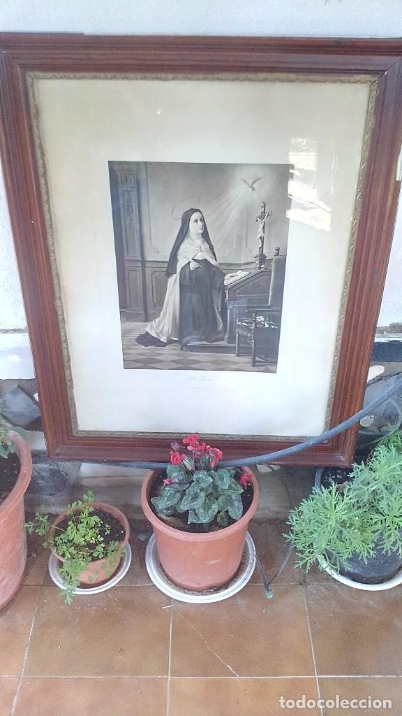 STE. THERESE-KÜNZLI FRERES EDITEURS-Nº 6167-MEDIDAS 940 MM X 730 MM CON MARCO Y CRISTAL (Arte - Arte Religioso - Grabados)
