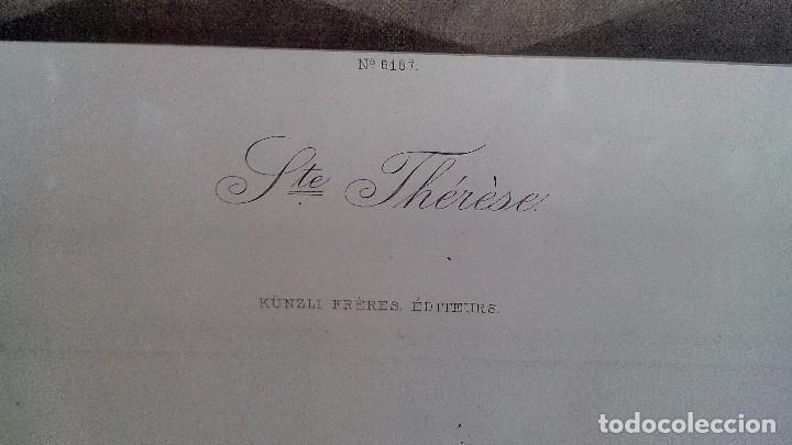 Arte: Ste. Therese-künzli freres editeurs-nº 6167-Medidas 940 mm x 730 mm con marco y cristal - Foto 6 - 101155395