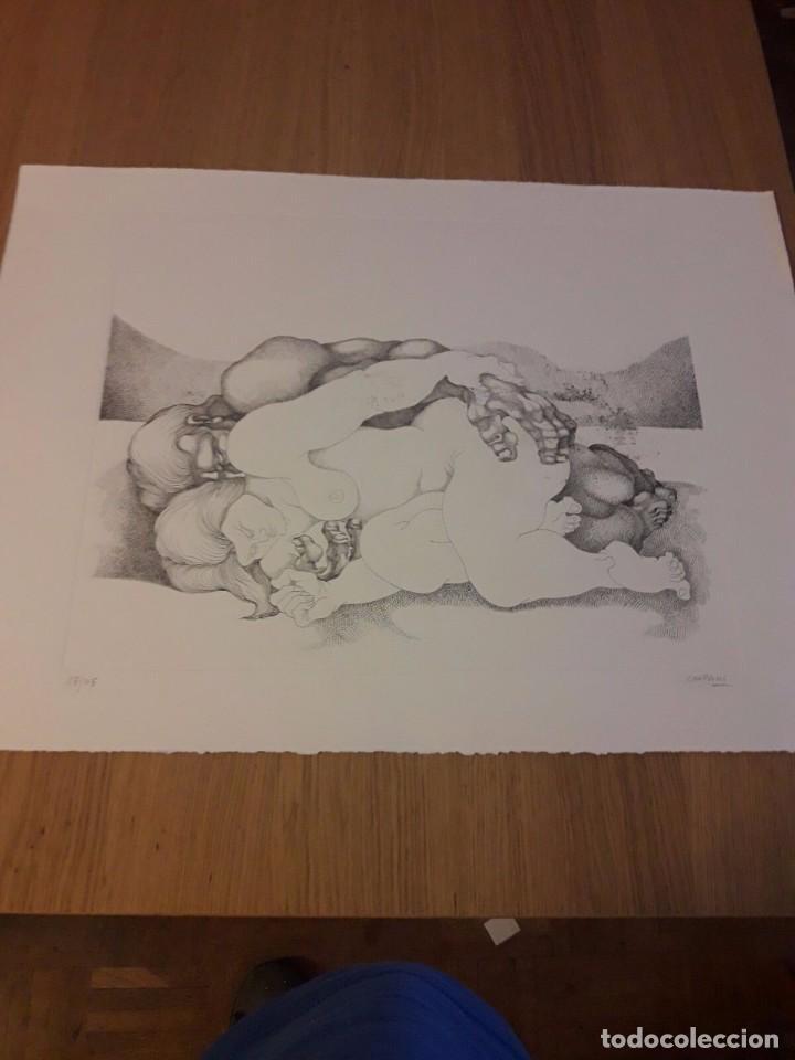 RICARDO CARPANI - GRABADO SERIE AMANTES NUMERADO Y FIRMADO (Arte - Arte Religioso - Grabados)